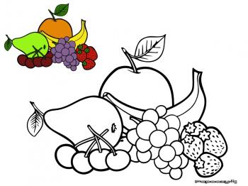 Coloriage vari t de fruits cat gorie fruits - Modele coloriage ...