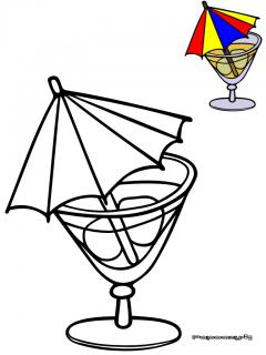 Coloriage verre picture to pin on pinterest pinsdaddy - Verre coloriage ...