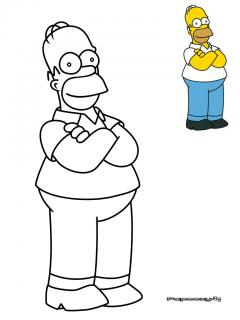 Coloriage homer simpson cat gorie simpson - Coloriage homer simpson ...