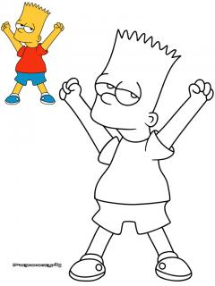 Pin dessin bart simpson a colorier on pinterest - Simpson a colorier ...