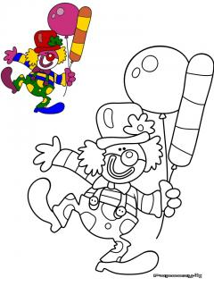 Coloriage Clown Aux Ballons Categorie Clowns Papoozy Fr