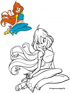 Coloriage Winx Bloom Categorie Les Winx Papoozy Fr