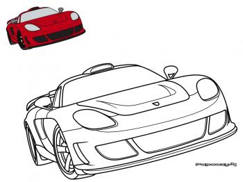 Dessin colorier flash mcqueen for Plans de dessins de porche