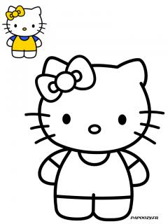 Coloriage Mimmy - Catégorie Hello Kitty - Papoozy.fr