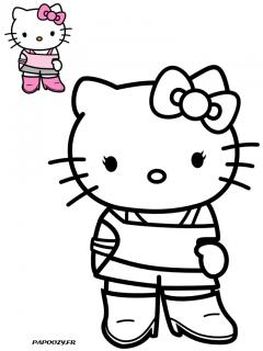 Coloriage Hello Kitty Fashion Categorie Hello Kitty Papoozy Fr