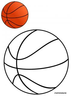 Image Coloriage Ballon.Coloriage Ballon De Basket Categorie Sports Et Loisirs