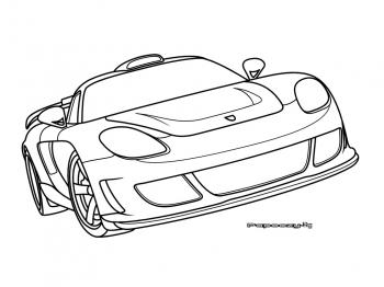 Voiture sport coloriage for Plans de dessins de porche