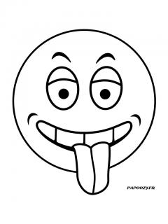 Coloriage Smiley.Coloriage Smiley 5 Categorie Smilies Papoozy Fr